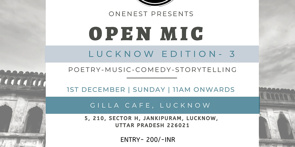 Open mic- Lucknow Edition -3