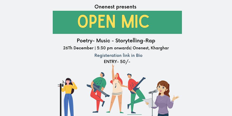 Poetry - Music- Storytelling Openmic