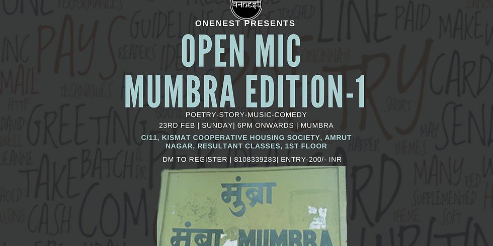 Open mic- Mumbra Edition 1