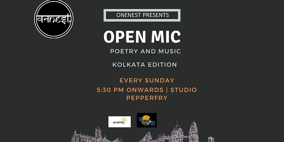Poetry and Music Open mic - Kolkata edition