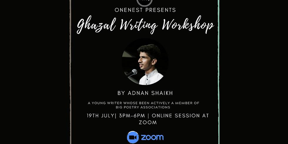 Ghazal writing workshop by Adnan