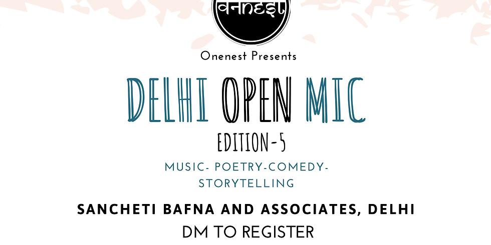 Open mic- Delhi Edition 5
