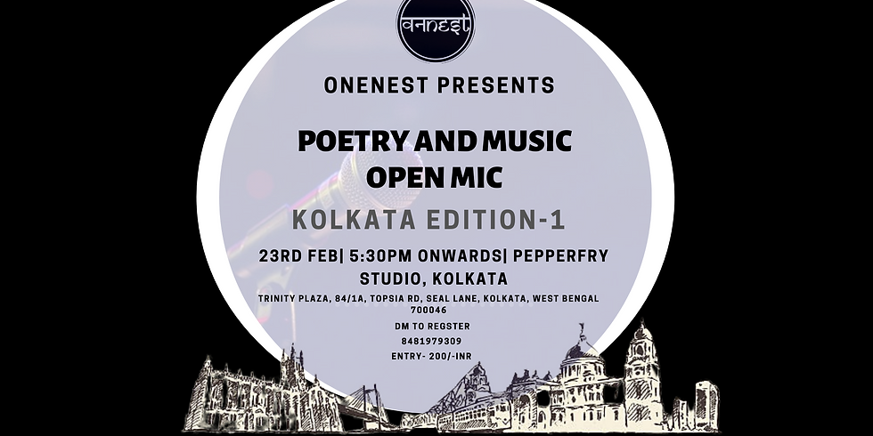 Poetry and Music Open mic - Kolkata edition 1