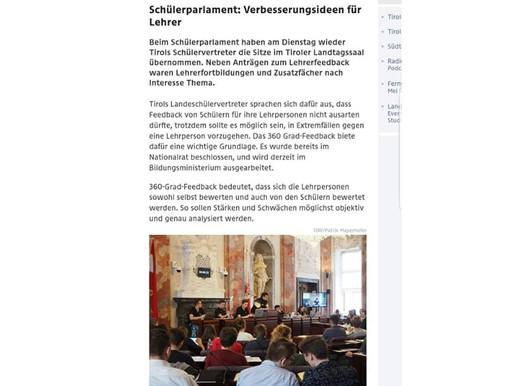 🗣Berichterstattung zum Tiroler SchülerInnenparlament der Landesschülervertretung Tirol🗣