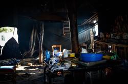 Una vivienda abandonada durante el desmantelamiento de Calais