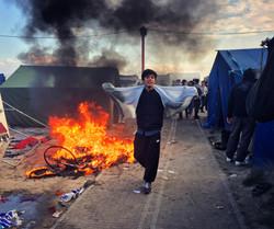 Incendio en el campo de refugiados