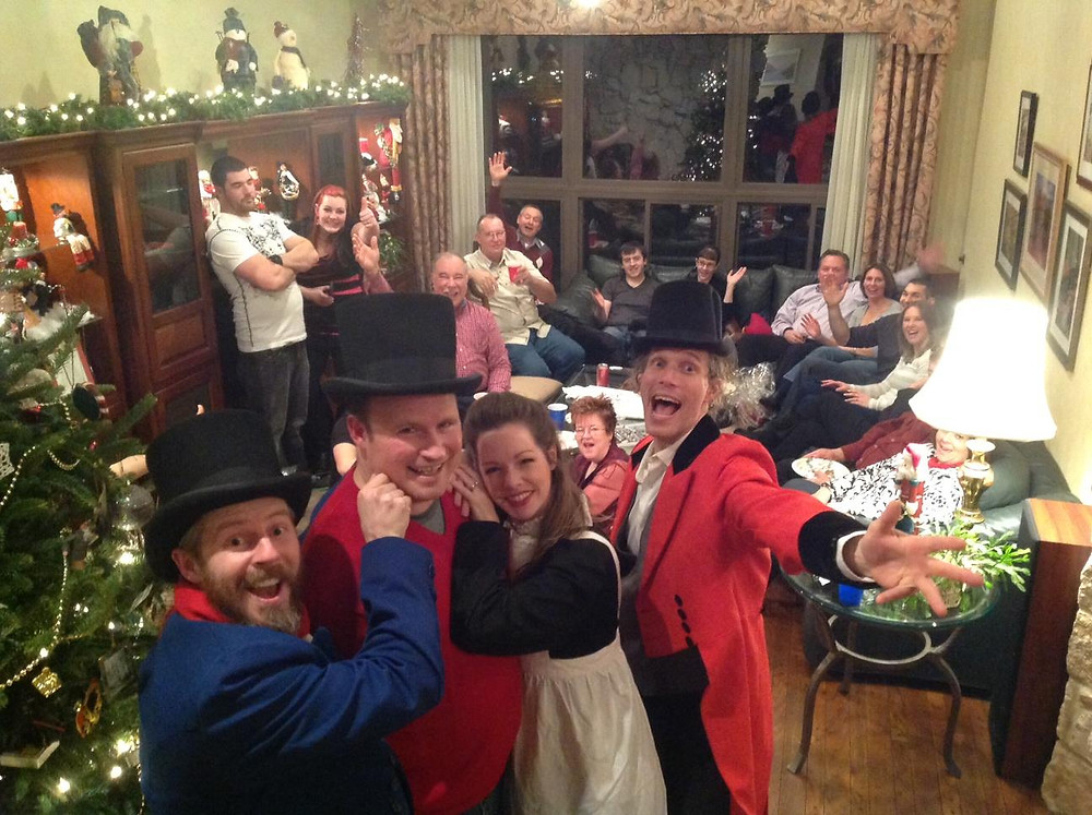 Murder mystery party at Christmas
