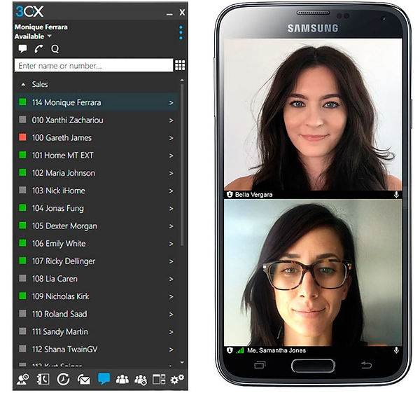 windows-and-android-client-pbx-3cx-netvo