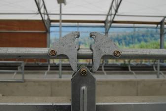 Detail of Artex headlockers