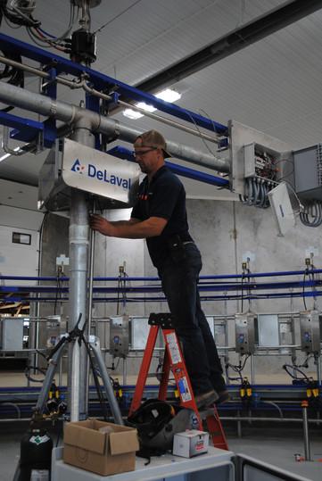Ed Vanlaar working on the rotary at Arendsdale