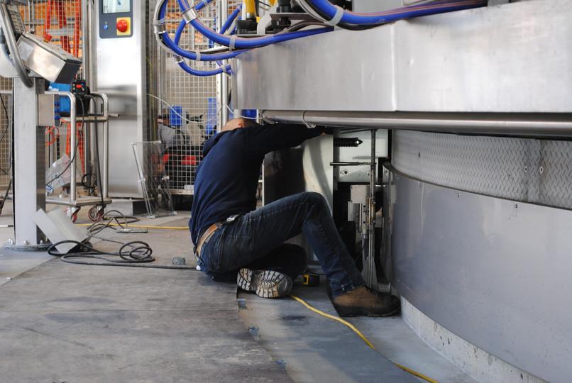 Ed Vanlaar working on the rotary at Bredale