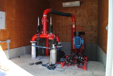 Nuhn pump being installed