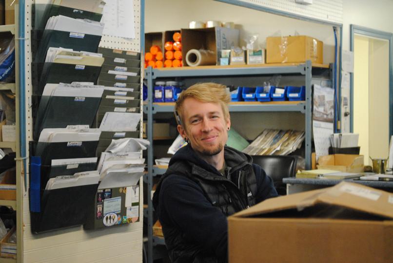 Matt Vanlaar in the shop