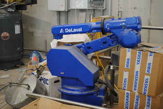 DeLaval Teat Spray Robot TSR waiting to be installed