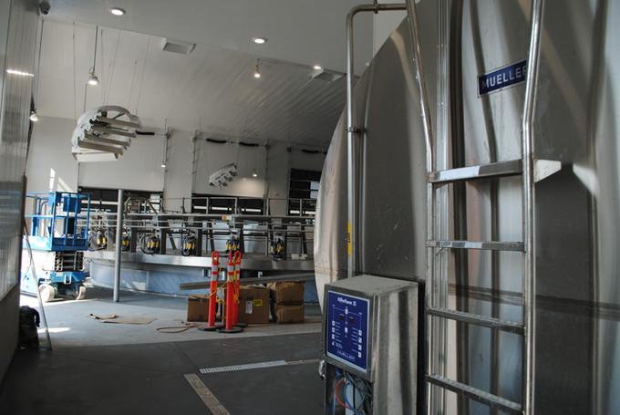 View of the parlour from the tanks