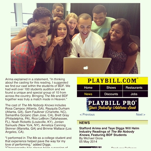 """The Me Nobody Knows"" Press Day, 1st New York Broadway Workshop"