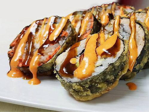 DEEP FRIED SALMON ROLL