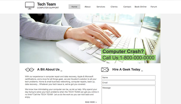 Technology & Apps website templates –  Tech Support
