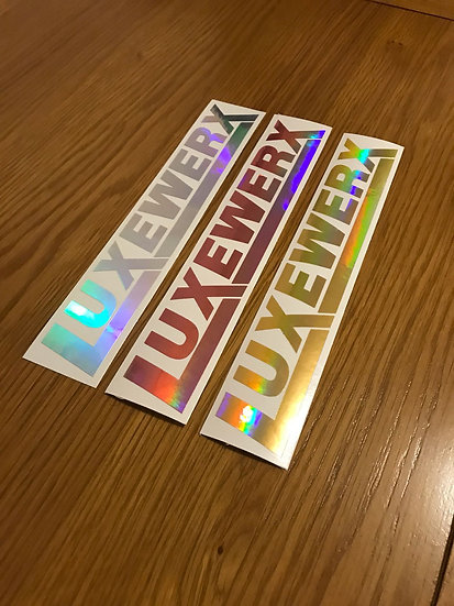 LUXEWERX Holographic Golds Sticker (3 sizes)