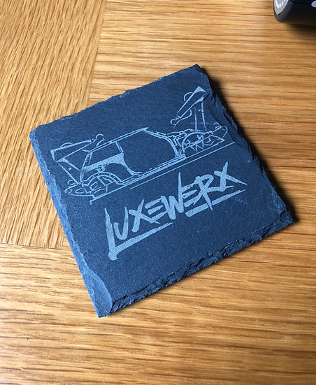 Production line slate coaster