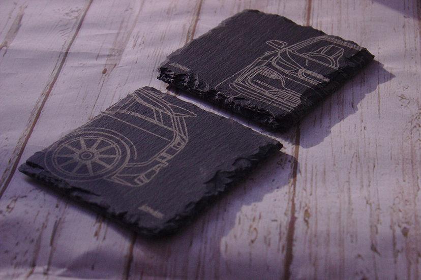 i3 Design slate coasters (pair)
