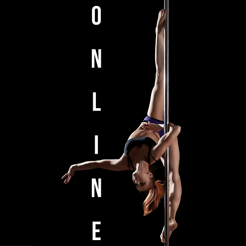 Online Pole Dance and Pole Dancing Classes, tutorial, private lesson, class, at home