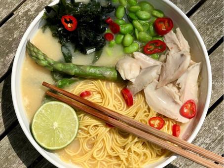 Chicken Noodle Miso Soup