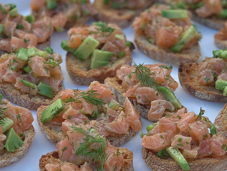 Salmon & Avocado Tartare Crostini