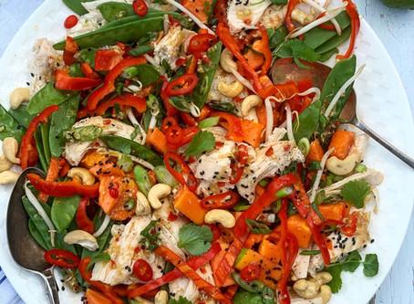 Lemongrass, Chicken & Papaya Salad