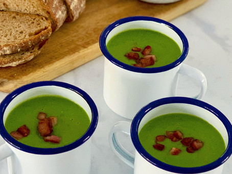 Pea & Pancetta Soup