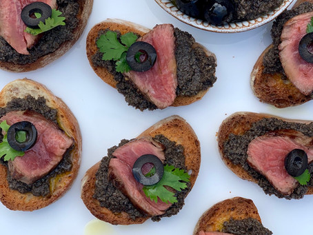 Seared Beef & Tapenade Canapés