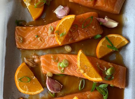 Sticky Soy & Orange Salmon