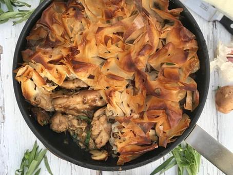Chicken Mushroom & Tarragon Filo Pie