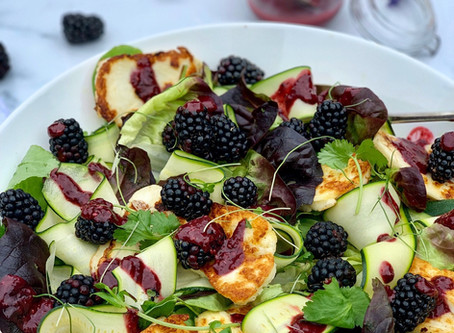 Halloumi & Blackberry Salad