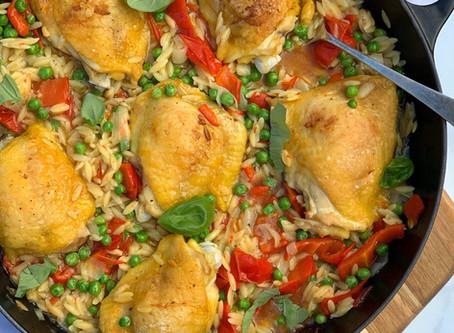Chicken & Orzo Tray Bake
