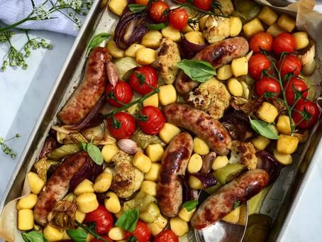 Sausage, Vegetable & Gnocchi Traybake