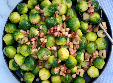 Brussel Sprouts with Pancetta & Chestnuts