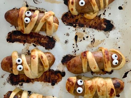 Halloween Sausage Mummies!
