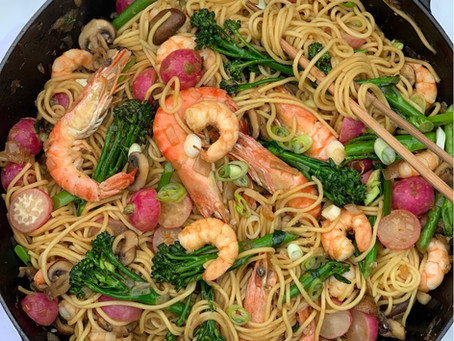 Asian Prawn Noodle Stir-fry