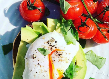 Poached Egg on Avocado & English Muffin ⠀