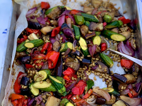 Roasted Vegetable Freekeh