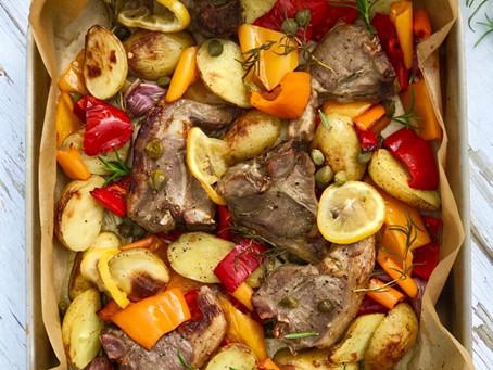Lamb Chop Traybake