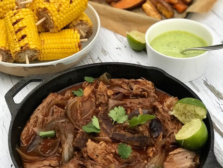 Texan Pulled Pork, Sweet Potato Fries & Corn on the Cob