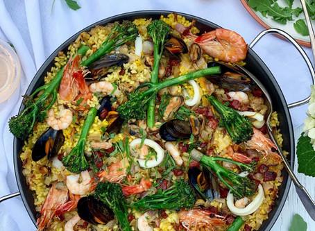 Tenderstem® broccoli & Seafood Paella