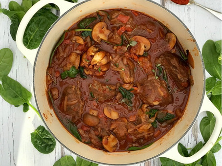 Hungarian Pork Goulash, made with Pigs Cheeks