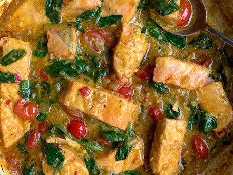 Salmon Spinach & Coconut Curry
