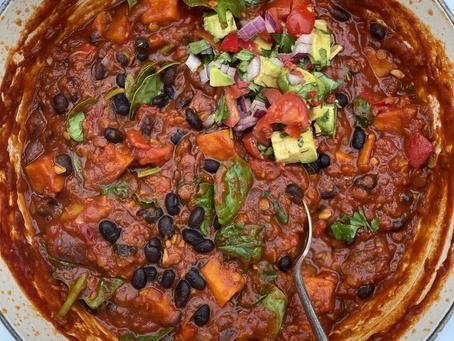 Vegetable, Black Bean & Lentil Chilli