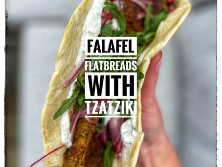 Falafel Flatbreads with Tzatziki