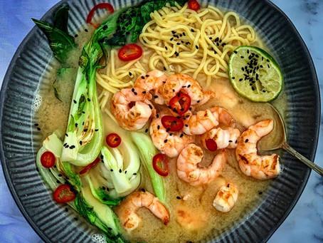 Prawn & Noodle Miso Soup