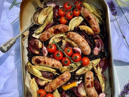 Sausage, Fennel & Lentil Traybake  ⠀⠀⠀⠀⠀⠀⠀⠀⠀